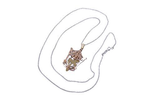 MAGICMOON - Mod. VTP10000260- Raffinata collana da donna in argento 925 rodiato con ciondolo giostra dei cavalli color rosè