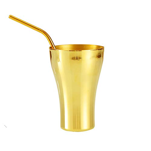 XXSC-ZC Taza de Agua de latón, Taza de Coque, Taza de café, Taza de té de Leche, Taza de Leche, Taza de Cerveza, Taza de té, Gran Capacidad Copa de Personalidad Creativa, 400 ml