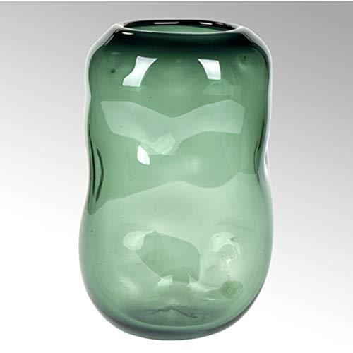 Lambert - Vase Carracci - Smaragd - H29 x D 19 cm - Farbglas