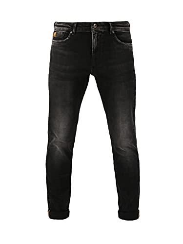 M.O.D. Herren Jeans Marcel - Slim Fit - Schwarz - Argentina Black W28-W38 98% Baumwolle Stretch Jeanshose, Größe:34W / 32L, Farbvariante:Argentina Black 3379