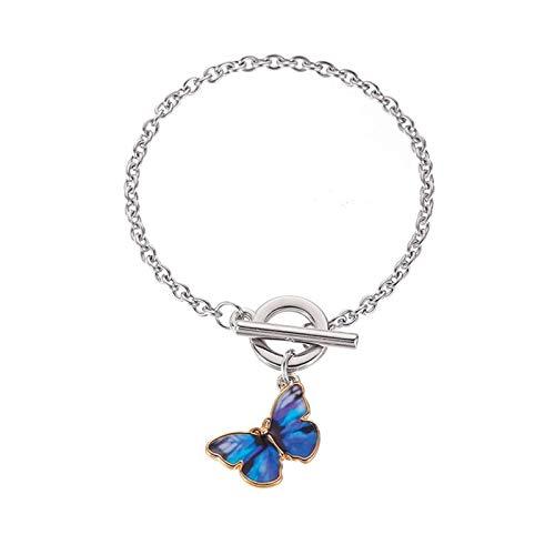 YUNLAN Women's bracelets, couple handmade jewelry, exquisite simple fashion bracelets, silver, zinc alloy bracelet (Color : A)