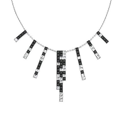 Swarovski Halskette V&R, Frozen Crystals:Halskette Cry/Jet KRISTALL/SCHWARZ