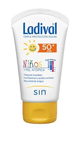 Ladival Protector Solar FPS 50+ resistente al agua para niños y piel atópica en crema - 50 ml