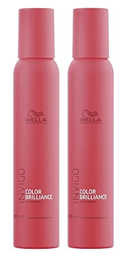 2er Color Brilliance Conditioning Mousse Invigo Wella Professionals mit Vitaminen angereichert je 200 ml = 400 ml