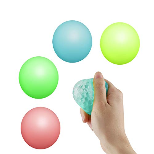 Sirecal Sticky Wall Ball Fluorescent Sticky Target Balls Decompression Toy Sfere Antistress Sfera appiccicosa Sticky Globbles Ball Stress Reliefer per Adulti Bambini