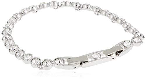Swarovski Tennis Armband, Rhodiniertes Damenarmband mit Funkelnden Swarovski Kristallen