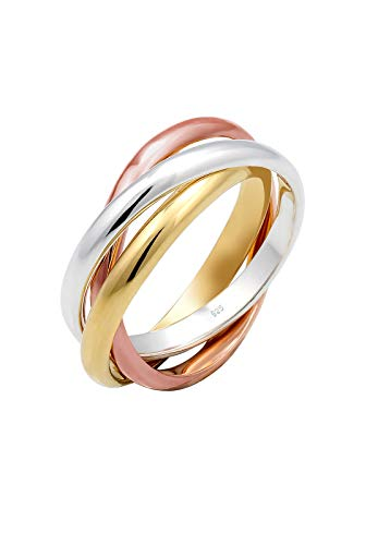 Elli Ring Damen Wickelring Basic in 925 Sterling Silber