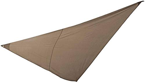 PEGANE Voile d'ombrage Triangulaire en Polyester Coloris Taupe - Dim : 4 x 4 x 4 m