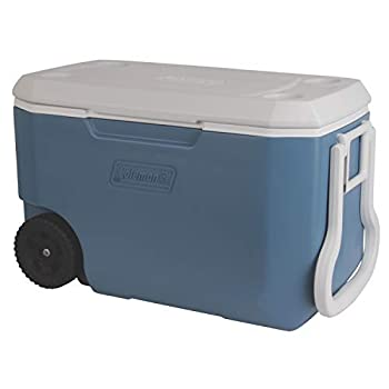 Coleman Rolling Cooler | 62 Quart Xtreme 5 Day Cooler with Wheels | Wheeled Hard Cooler Keeps Ice Up to 5 Days Blue