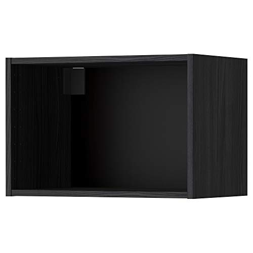 METOD väggskåp ram 60 x 40 cm träeffekt svart