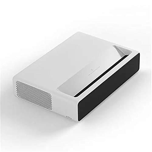 BTTNW Proyector Proyector de Tiro Ultra Corto 6500 lúmenes WiFi MIUI TV Bluetooth 3000: 1 Control de Voz Full HD Adecuado para Pequeñas Reuniones (Color : White, Size : 410mm × 291mm × 88mm)
