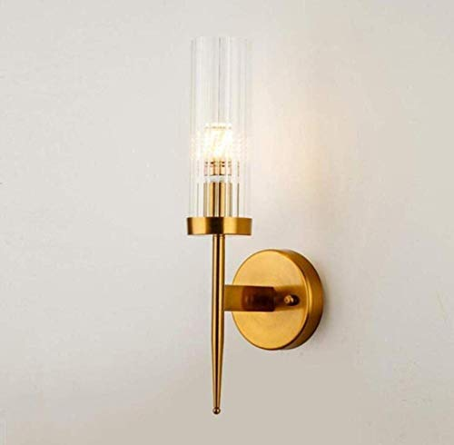 Mechanical Parts Outdoor Wall Lamp Attic Restaurant Crystal Wall Lamp Modern Minimalist Wall Light American Luxury Copper Metal Body Glass Lampshade Copper 1 Head Discover The Light Simple Style