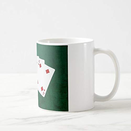 Lustiger Kaffeebecher, Pokerhände, ein Paar – Ace Kaffeetasse, Teetasse, Kaffeetasse, 325 ml