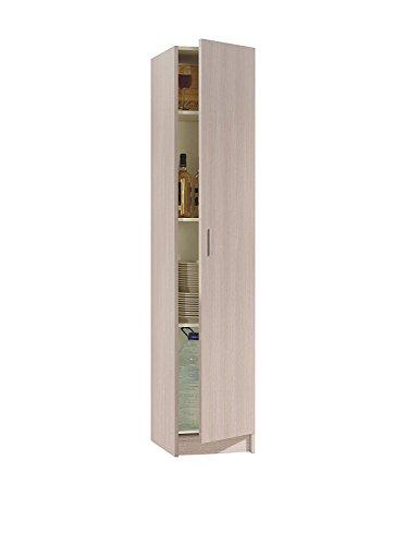 Armario multiusos 1 puerta color roble