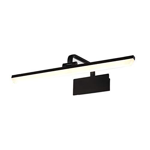 Vintage LED Badezimmer Spiegellampe, Moderne Warmweiß Schminktisch Beleuchtung Verstellbar Rocker Schminklicht Wandleuchte Schlafzimmer Schranklampe-schwarz A 9w-l: 40cm