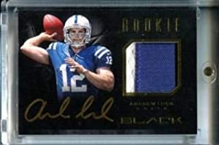 Andrew Luck Autographed/Game Used Jersey Card - Football Game Used Cards