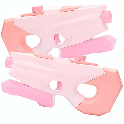 KUMADAI 2 Pack Pistola de Agua Alta Capacidad 1200ML Pistola Agua Niios Alcance Largo 7-8M Pistola Agua Juguete de Agua para Piscina Verano Fiesta Playa