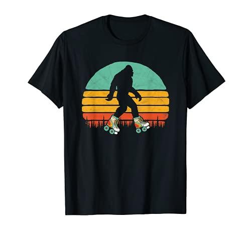 Retro Bigfoot Roller Skating Sasquatch 80s Skater Graphic T-Shirt
