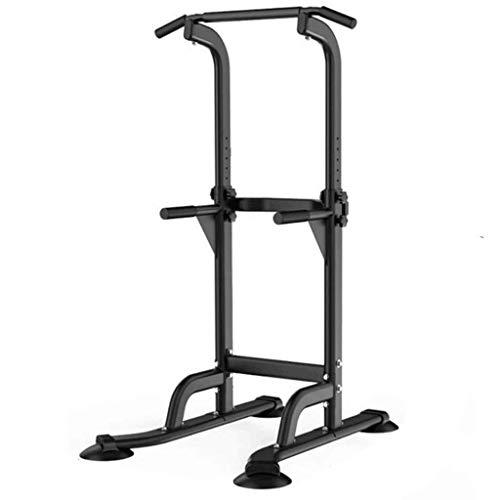 XiYou Barras paralelas Single Fitness Single Home Equipo de dominadas en Interiores Entrenamiento Deportivo Individual (Negro, 75 * 82 * 210 cm)