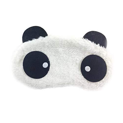 Mothcattl Niedlicher Panda-Schlafmaske, Unisex, Plüsch, für Reisen, Schlafmaske, Verdunklungsmaske
