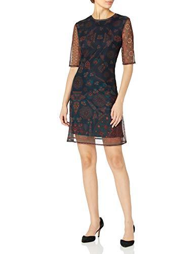 Desigual Vest_LOS Angeles Vestido Casual, Azul, XL para Mujer