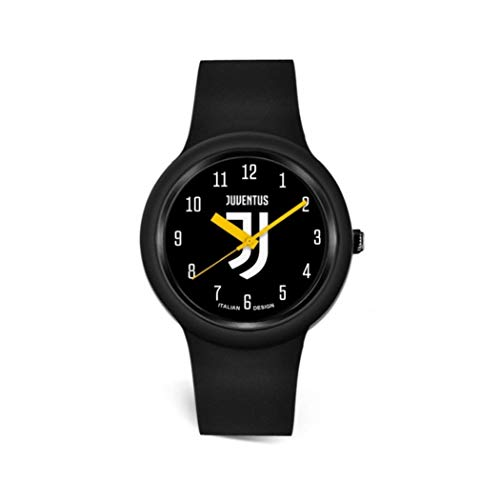orologio della juventus Orologio Quadrante Logo Nero Ufficiale Adulto F.C. Juventus