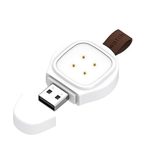 MIORIO Cargador magnético de Carga rápida Adaptador de Corriente de estación USB Tipo C portátil Compatible con Fitbit-Versa3 / Sense Charge Dock