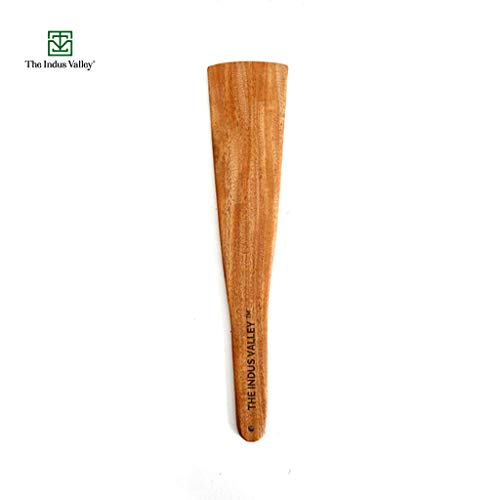 The Indus Valley Wooden Spatula for Cooking [ Flip / 32cm / Neem Wood ]