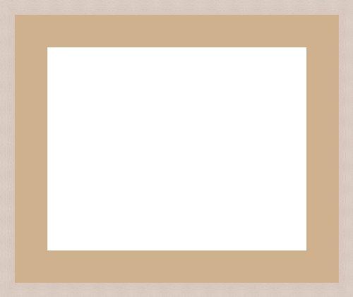 Bilderrahmen Passwort überall 1Öffnung (S) 50x 40, Bilderrahmen, gebrochenes Weiß., Holz, sand, 1 - 35x30