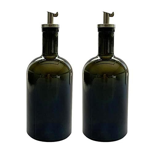 2 botellas de aceite de 500 ml, vinagre y aceite, de cristal con boquilla, fabricado en Alemania