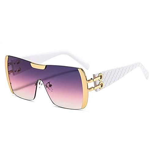 LUOXUEFEI Gafas De Sol Gafas De Sol Cuadradas Mujer Gafas De Gran Tamaño Hombre Sombras