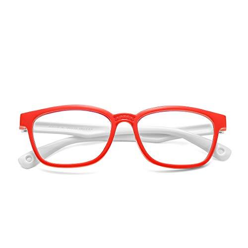 COASION Blaulicht-blockierende Brille für Kinder, flexibel, quadratisch, mit Blendschutz, UV400-Schutz