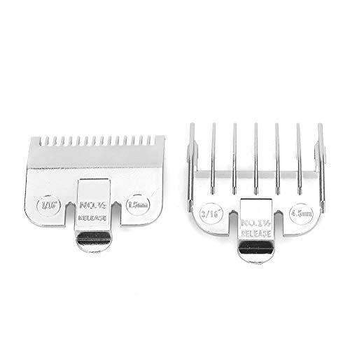 Accesorio de peine universal para cortapelos Wahl, juego de peines de guía de corte profesional de 1,5 mm y 4,5 mm(Plata)
