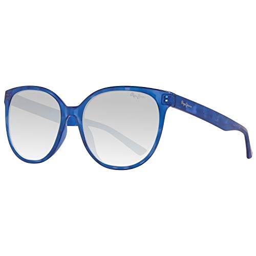 Pepe Jeans PJ7289C355 Sonnenbrille PJ7289 C3 Tara Schmetterling Sonnenbrille 55, Blau