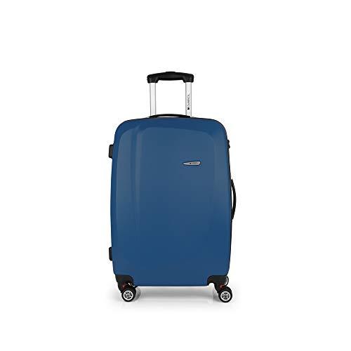 Gabol - Line | Maletas de Viaje Medianas Rigidas de 44 x 68 x 25 cm con Capacidad para 61 L de Color Azul