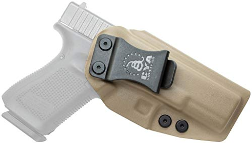 CYA Supply Co. Fits Glock 19/23/32/19X/45 Inside Waistband Holster Concealed Carry IWB Veteran Owned Company (Flat Dark Earth, 011- Glock 19/23/32/19X/45)