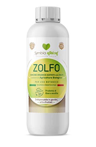 Symbioethical Zolfo - Concime Organico azotato con Zolfo Liquido - 500ml - impiegabile in Agricoltura Biologica