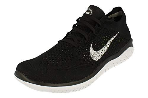 Nike Free RN Flyknit 2018 Black/White 942838-001 Men's Running Shoes (10.5 D US)