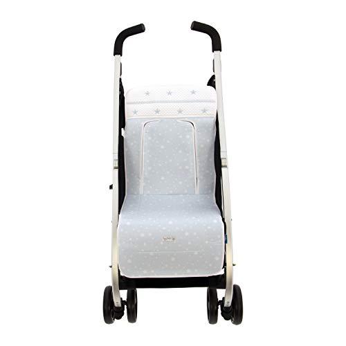 Colchoneta o funda de Paseo para silla Ligera Rosy Fuentes en color celeste