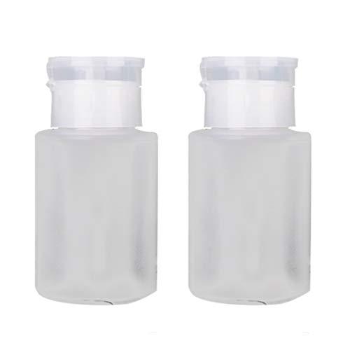 Lurrose 4pcs 120ml vernis à ongles distributeurs de pompes vider le récipient en plastique vide effacer cosmétique cosmétique dissolvant de vernis à ongles bouteille avec bouchon