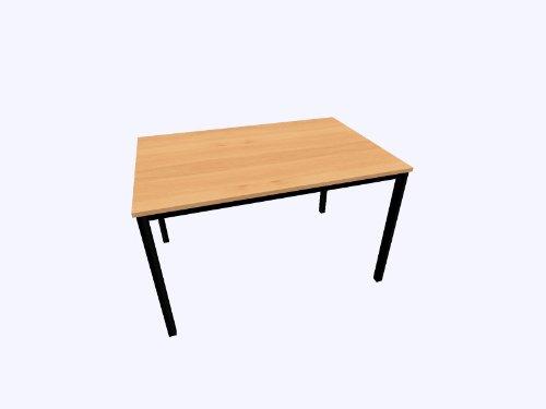 HAMMERBACHER Besprechung tavolo quadrato tubo dq166D buche SCHWAR