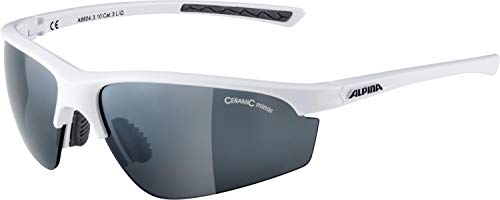 ALPINA Unisex - Erwachsene, TRI-EFFECT 2.0 Sportbrille, white gloss, One size