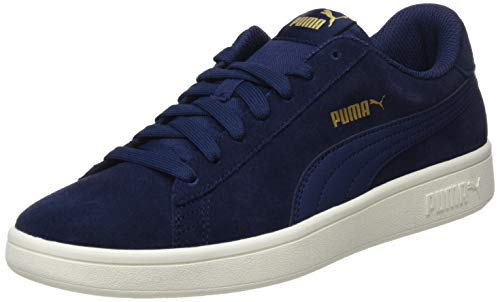 PUMA Smash V2, Zapatillas Unisex-Adulto, Azul (Peacoat Team Gold/Whisper White), 41 EU