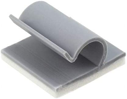 Essentra Components CBL CLIP J-TYPE KKC-4-RT GRAY 67% OFF of fixed price Same day shipping Pack ADHESIVE