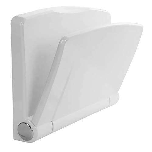 Perfeclan Duschsitz Dusch Klappsitz Dusch Hocker Duschhilfe, klappbar, weiß, Wandmontage, belastbar ca.200 kg