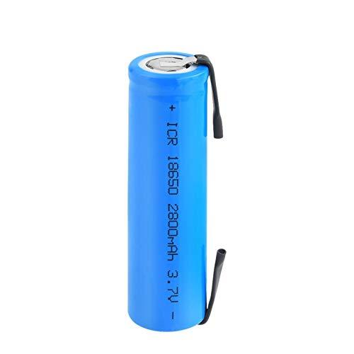 Midenbo 18650 Akkus 3.7v 2800mah Lithium Li-Ion Akku, ICR 18650 Akku für Stirnlampe Mit Laschen 1Pcs