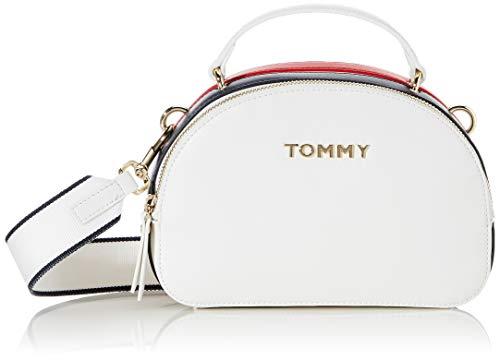 Tommy Hilfiger Damen Tommy Staple Crossover Umhängetasche, Weiß (Bright White), 1x1x1 cm