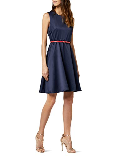 Intimuse Damen, ärmelloses Cocktail Kleid, Blau (Navy 018), 40