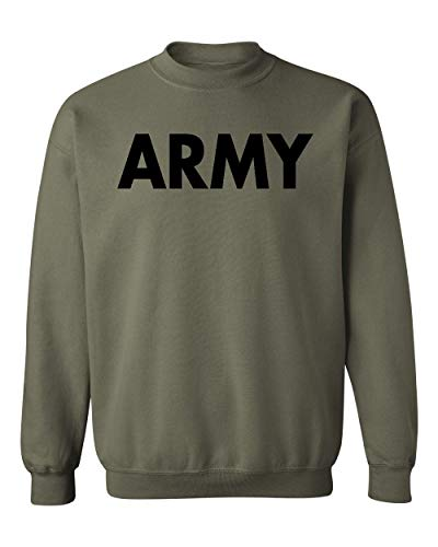 US Military Gear Army Training PT Crewneck Sweatshirt, M, Military