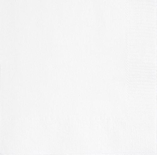 Unique Party - 31042 - Paquet de 50 Serviettes en Papier - 16,5 cm - Blanc